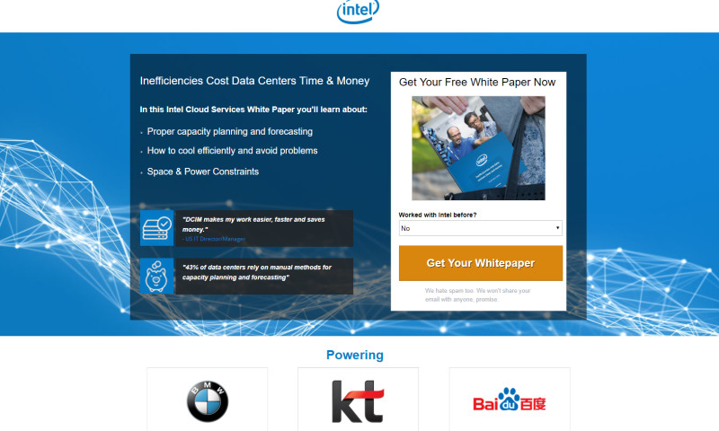 MAXAUDIENCE - Intel Email Campaign