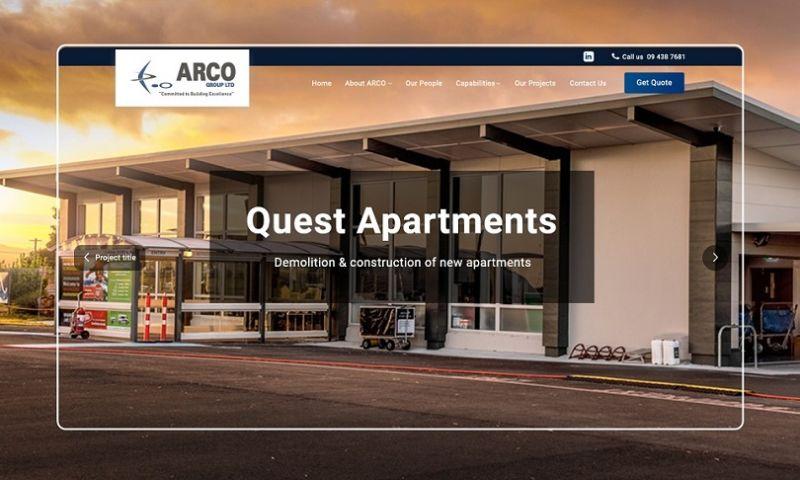 F5 Studio - ARCO   Website Redesign