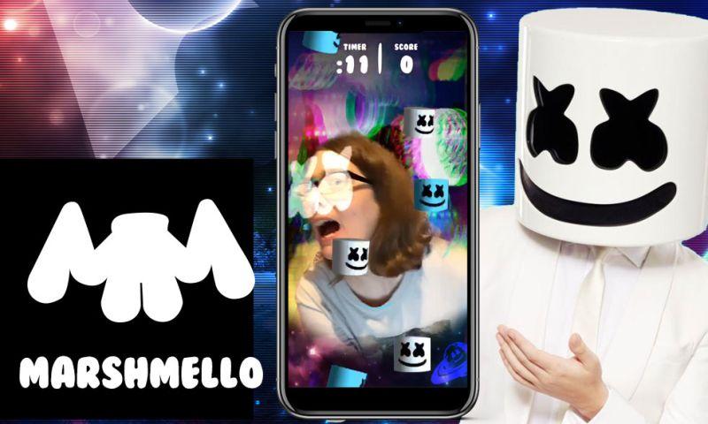 Groove Jones - EDM Artist Marshmello Instagram AR Face Game Achieves 3.2 Million Views in 48 Hours