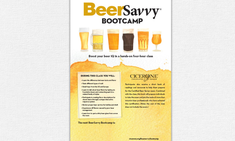 FRW Studios - Cicerone BeerSavvy Bootcamp Poster