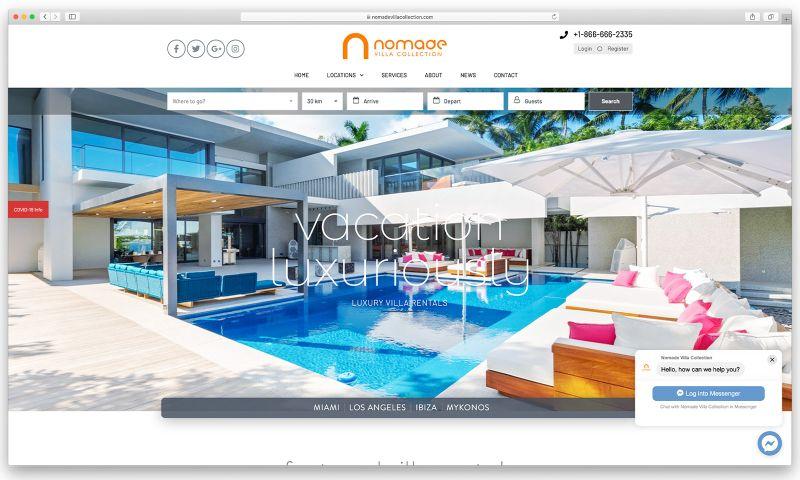sliStudios Web Development - Nomade Villa Collection