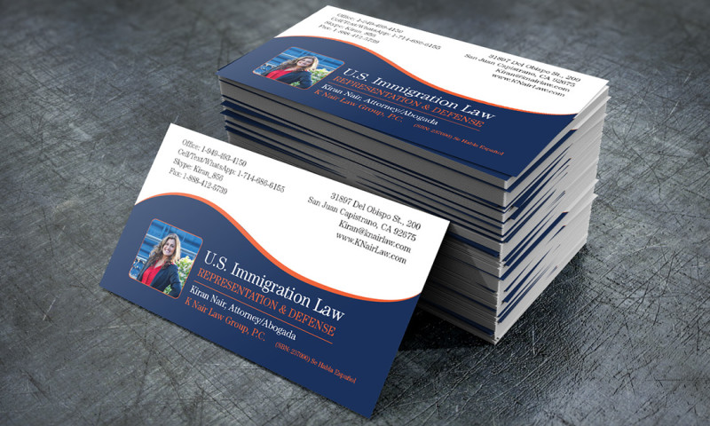 FRW Studios - Business Card Design K Nair Law