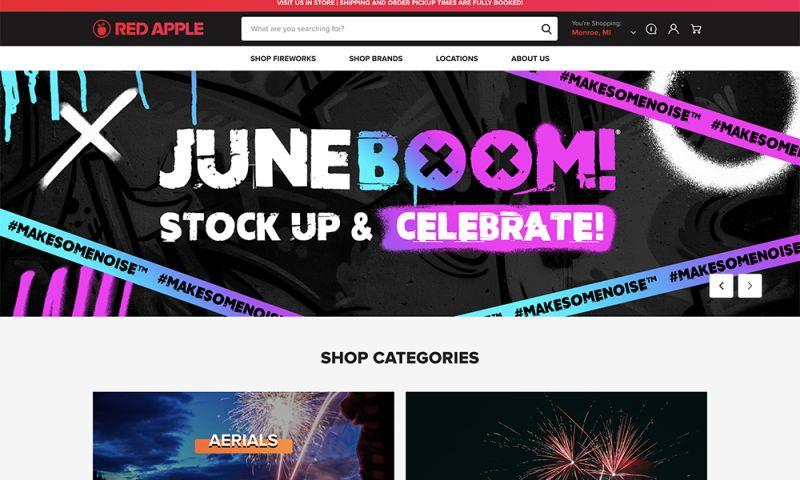 DigitlHaus Agency - Red Apple Firework Web Design & Development