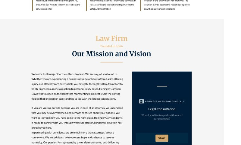 Flagstone Search Marketing - Law Firm Website Redesign
