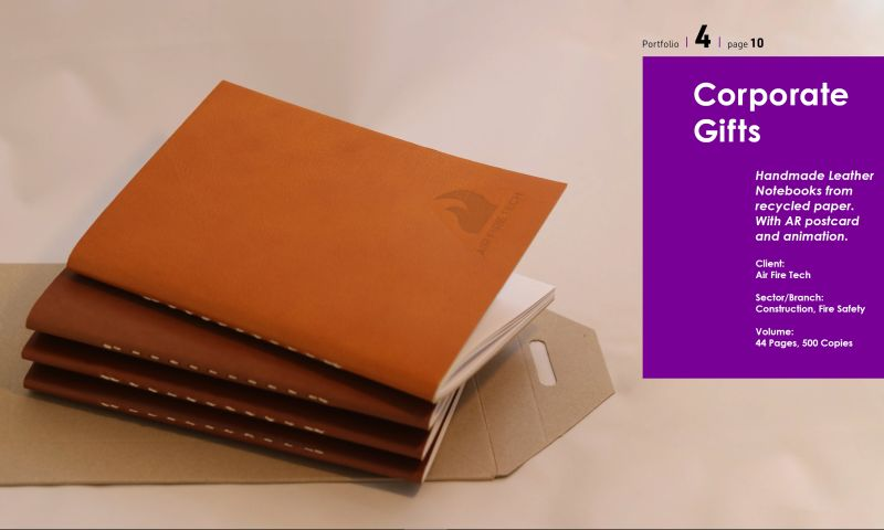 The MAJORDESIGN Creative Agency - Hand Made Leather Notbook