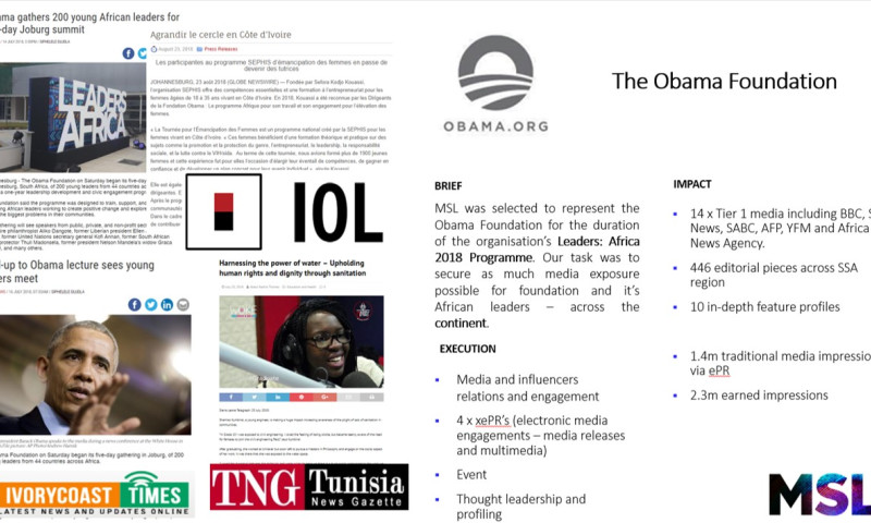 MSL South Africa - Obama Foundation