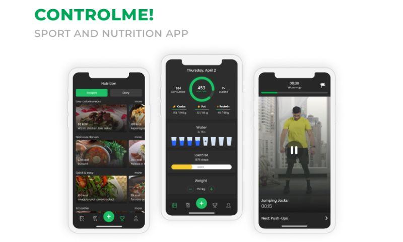2muchcoffee - ControlMe: Sport and Nutrition App