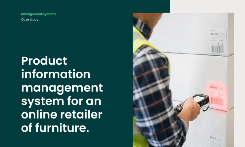 Forbytes - Product information management system for an online retailer of furniture