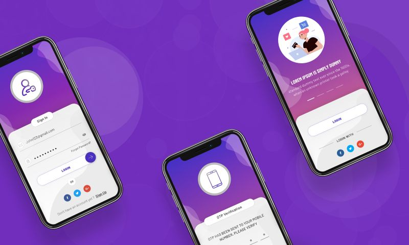 The One Technologies - Mobile app Login & Signup UI