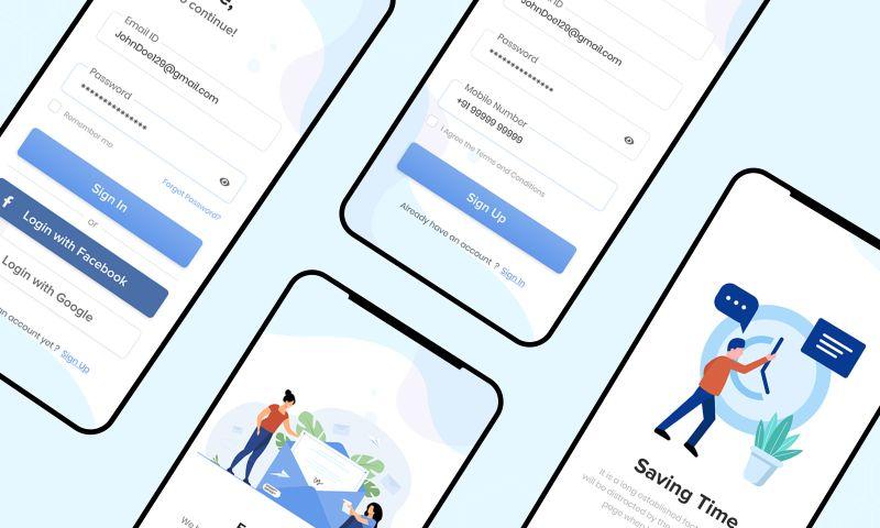 The One Technologies - Register & Login App Mockup