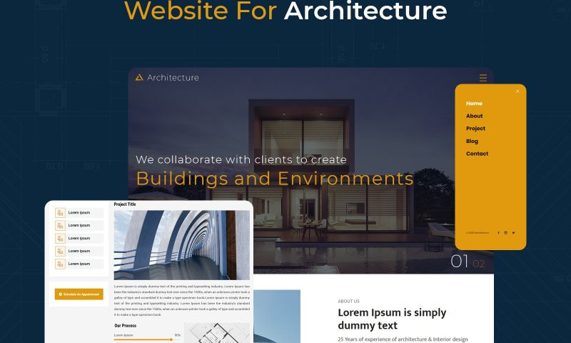 The One Technologies - Architecture Website