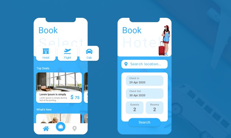 The One Technologies - Travel Booking App