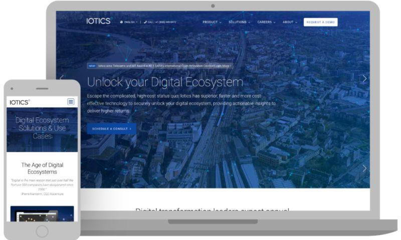 3 Media Web - Iotics Website Redesign