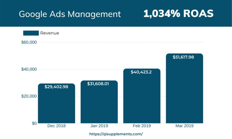 Zima Media - Google Ads & SEO Management for QI Supplements