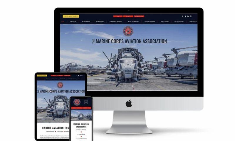Flair Communication - Marine Corps Aviation Association - Non-Profit Website
