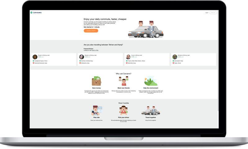 datarockets - Carvanro - ride sharing platform for Middle East region