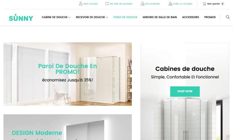 Vnited - E-commerce website (Showers equipment)