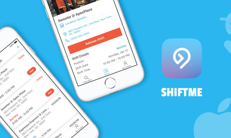 ANODA - ShiftMe iOS and Android mobile app