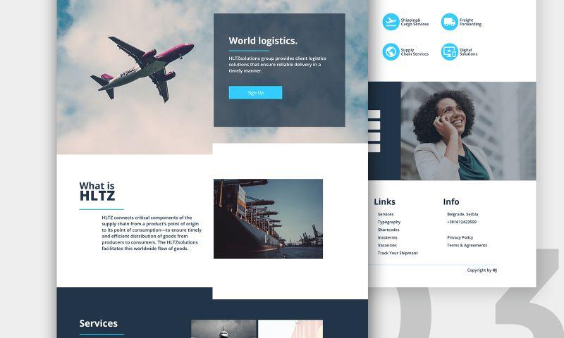 Carmine Cloak - HLTZ Group   Web design