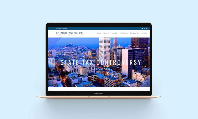 BRIGHTSAND designs - Cataldo Tax Law Branding & Website Designs