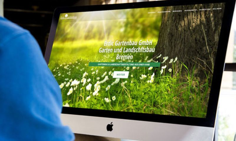 Webdesign Bremen - Webdesign für Erdic Gartenbau GmbH aus Bremen