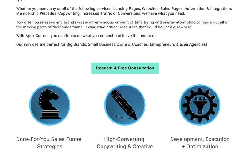 Apex Current - Done-For-You Sales Funnels & Conv. Websites