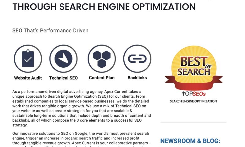 Apex Current - Performance-Driven Search Engine Optimization (SEO)