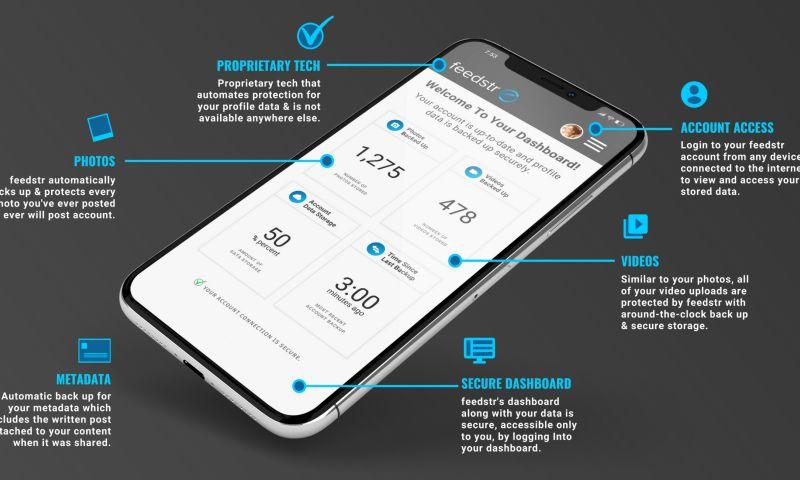 Apex Current - feedstr - Social Media Data Protection App - Build, Logo & UI Design