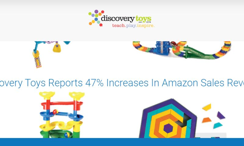 OperationROI - Discovery Toys Reports 47% Increases In Amazon Sales Revenue