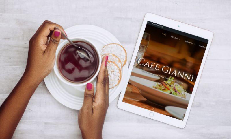 Tulumi - Cafe Gianni   Building Online Presence for Mount Dora's Favorite Restaurant