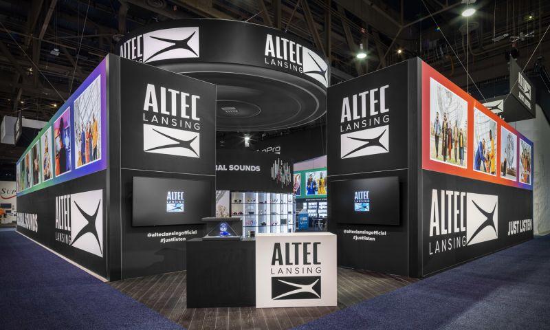 Apple Rock Advertising & Promotion, Inc. - Altec Lansing - Infinity Brands Custom Display for CES