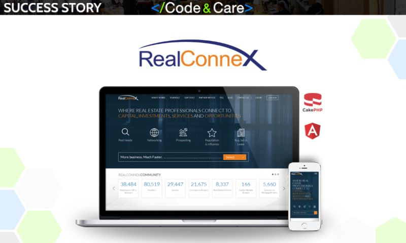 Code&Care - RealConnex: the fastest growing network of real estate professionals
