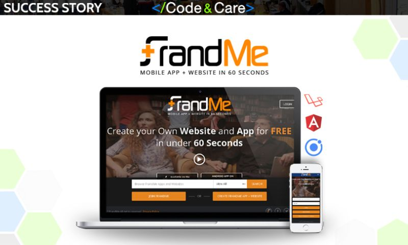 Code&Care - FrandMe: build a website and mobile app in 60 seconds
