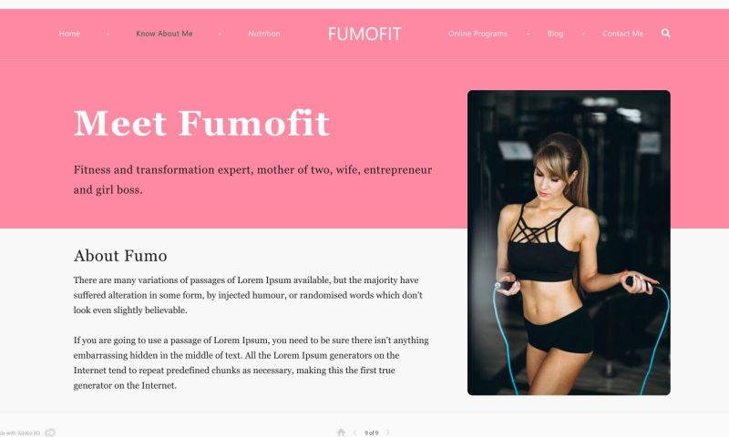 Vibhuti Technologies - Fitness Website Redesign