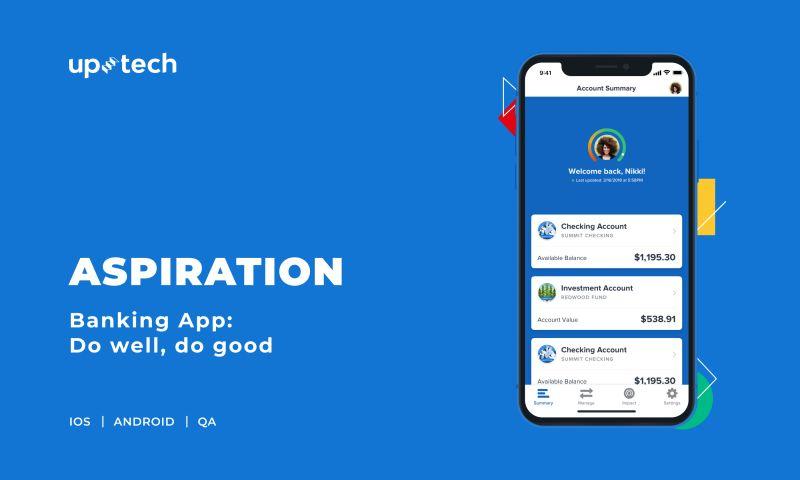 Uptech - Aspiration - mobile banking app