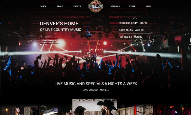 The Brandsmen - Grizzly Rose eCommerce, Concert Ticketing & Event Website