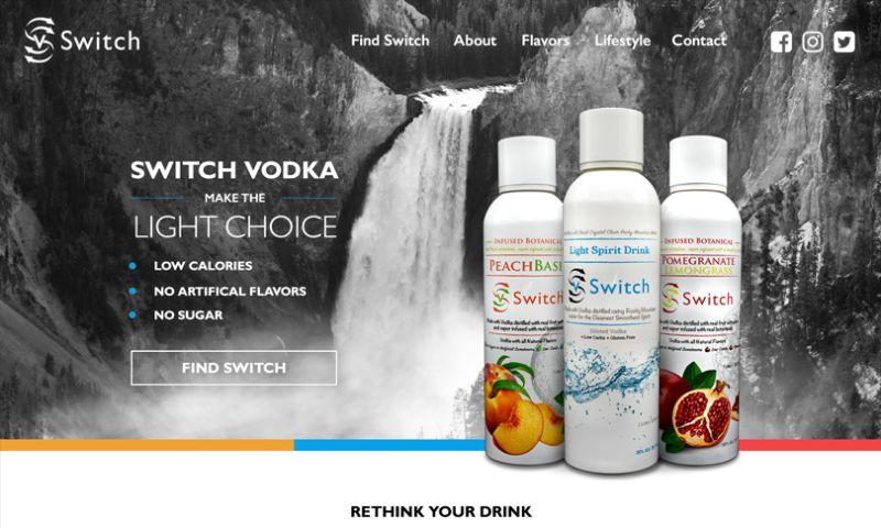 The Brandsmen - Switch Vodka Full Branding Package and Website