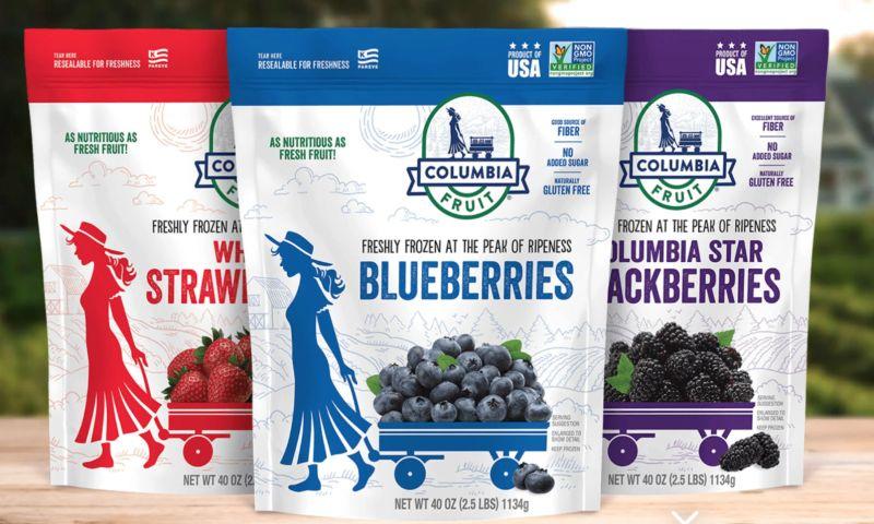 PKG Brand Design - Columbia Frozen Fruit
