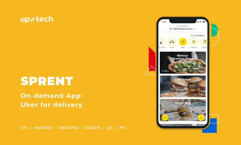 Uptech - Sprent - on-demand delivery app