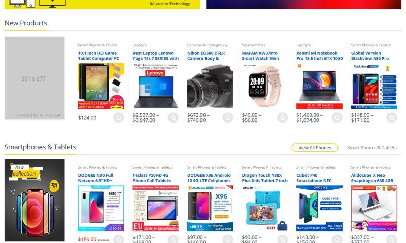 DT Modern Tech - web design