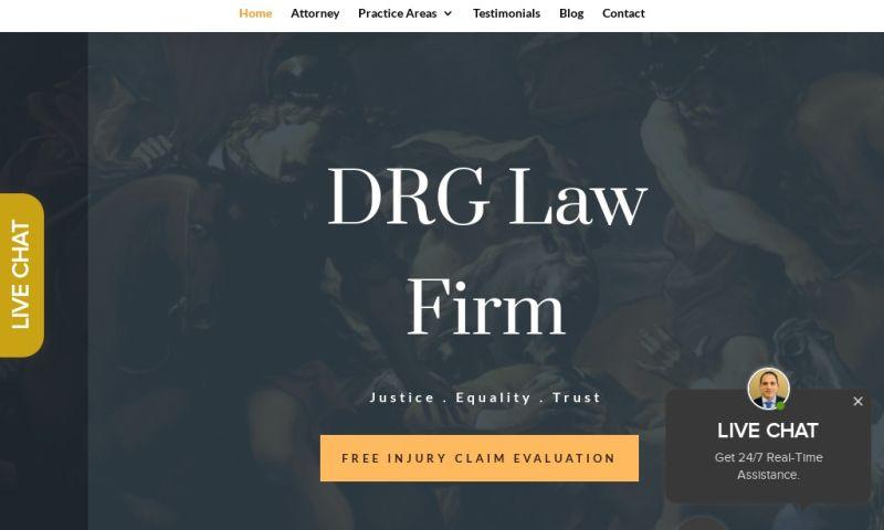 Clicc Media Inc - DRG Law Firm Web Design