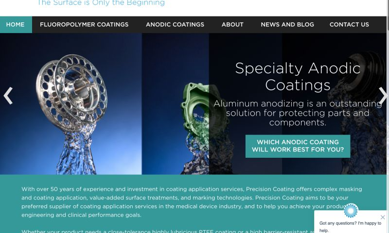 Grant Marketing - Precision Coating Website