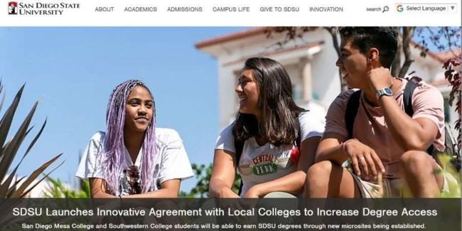 San Diego State University website