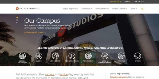 Full Sail University website