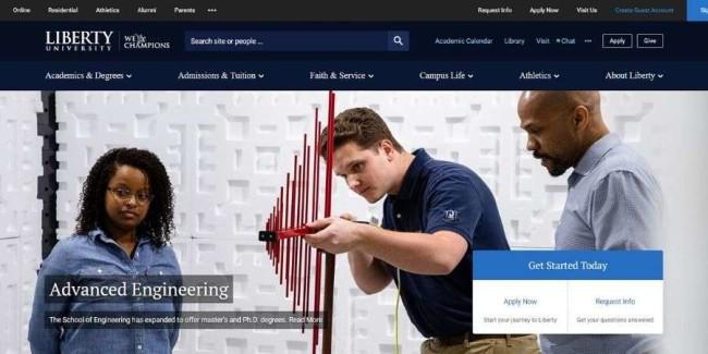 Liberty University website