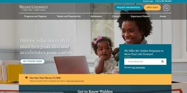 Walden University website
