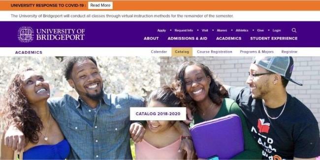 University of Bridgeport website