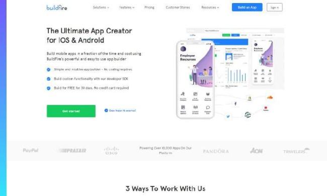 free app builders: Buildfire
