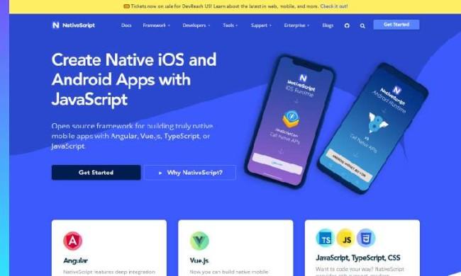 free app builders: Native Script