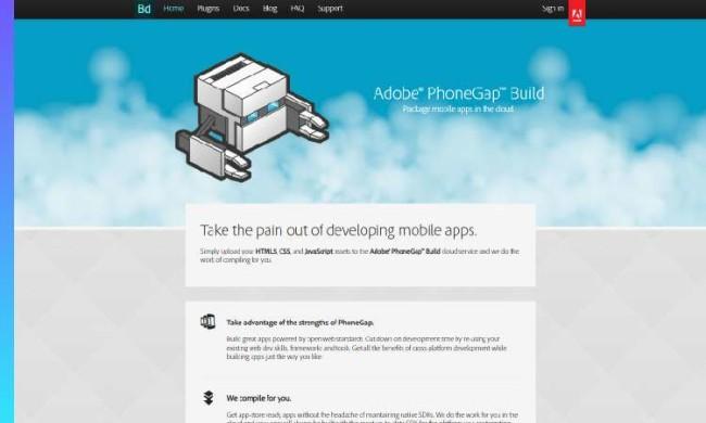 Adobe PhoneGap website
